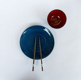Chopsticks πιάτο που προετοιμάζεται για τους ιαπωνέζους Στοκ Εικόνες