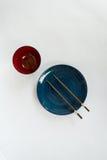 Chopsticks πιάτο που προετοιμάζεται για τους ιαπωνέζους Στοκ Εικόνα