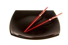 chopsticks πιάτο Στοκ φωτογραφία με δικαίωμα ελεύθερης χρήσης