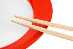 chopsticks πιάτο Στοκ εικόνα με δικαίωμα ελεύθερης χρήσης