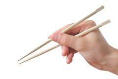 chopsticks που κρατούν το πρόσωπο Στοκ εικόνα με δικαίωμα ελεύθερης χρήσης