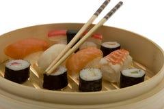 chopsticks σούσια Στοκ Φωτογραφία