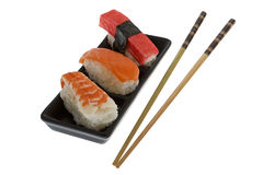 chopsticks σούσια Στοκ Εικόνες
