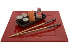 chopsticks σούσια Στοκ Φωτογραφίες