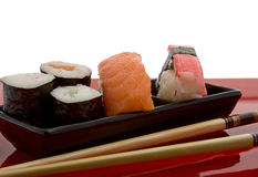 chopsticks σούσια Στοκ εικόνα με δικαίωμα ελεύθερης χρήσης