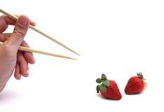 chopsticks φράουλα Στοκ Εικόνες
