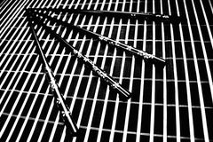 Chopsticks. On a bamboo mat Stock Images