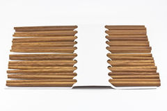 Chopsticks. On a white background stock photography