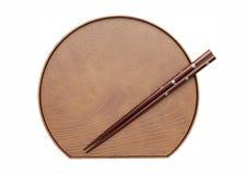 Chopsticks και πιάτο Στοκ Εικόνες