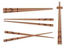chopsticks Ajuste acessórios para o sushi isolado em Backgrou branco Foto de Stock