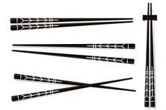 chopsticks Ajuste acessórios para o sushi isolado em Backgrou branco Fotos de Stock