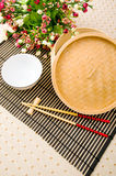 Chopsticks and bowl Stock Photos