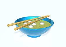 Chopsticks and bowl Royalty Free Stock Image