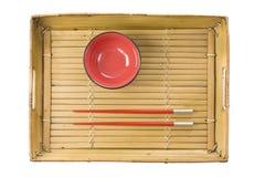 Chopsticks and bowl Royalty Free Stock Photos