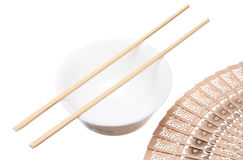 Chopsticks on the bowl Royalty Free Stock Photo