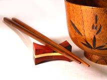 Chopsticks and bowl Stock Photos