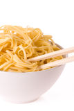 Chopsticks,bowl and noodles Stock Photo