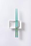 Chopsticks and bowl Stock Photo