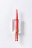 Chopsticks and bowl Stock Image