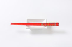 Chopsticks and bowl Royalty Free Stock Photo