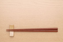Chopsticks and chopsticks rest Stock Image