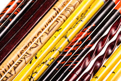 Chopsticks collection Royalty Free Stock Images