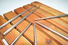 Chopsticks de prata Fotografia de Stock