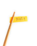 Chopsticks Diet messages. Royalty Free Stock Image