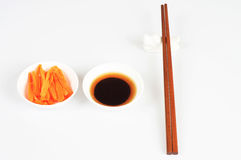 Chopsticks and dishes Stock Image