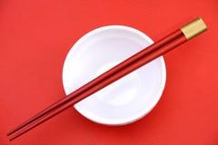 Chopsticks e bacia Fotografia de Stock