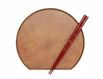 Chopsticks e placa Imagem de Stock