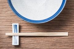 Chopsticks with empty bowl Royalty Free Stock Photography