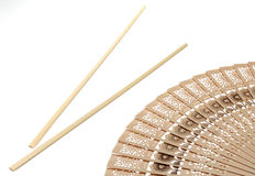 Chopsticks and fan Stock Photo
