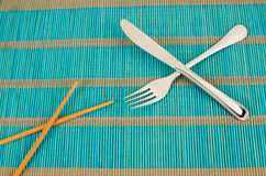 Chopsticks or fork still life Stock Photography