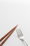 Chopsticks fork Stock Photo