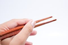 Chopsticks are the hand grip. Royalty Free Stock Photos