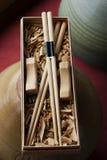 chopsticks handmade 免版税图库摄影