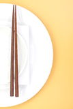 Chopsticks In Asian Set Table Royalty Free Stock Image