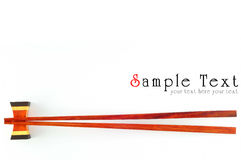 Chopsticks isolated Royalty Free Stock Photography
