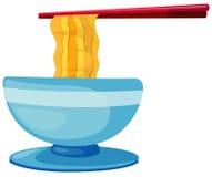 chopsticks jedzenia kluski royalty ilustracja