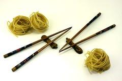 chopsticks kluski Fotografia Royalty Free