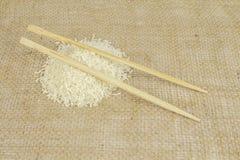 Chopsticks na Rice Zdjęcia Royalty Free