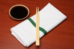 Chopsticks and napkin 2 Stock Photo