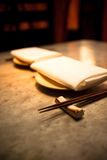 Chopsticks and Napkins Royalty Free Stock Images