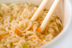 Chopsticks and noodles Royalty Free Stock Photo