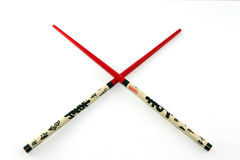 chopsticks odizolowywający Zdjęcia Royalty Free