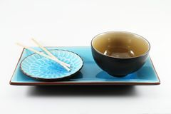 Chopsticks and Oriental Plates Stock Photo