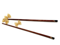 Chopsticks with pasta Royalty Free Stock Images