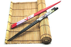 Chopsticks on placemat Royalty Free Stock Image