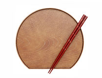 Chopsticks and plate Stock Image